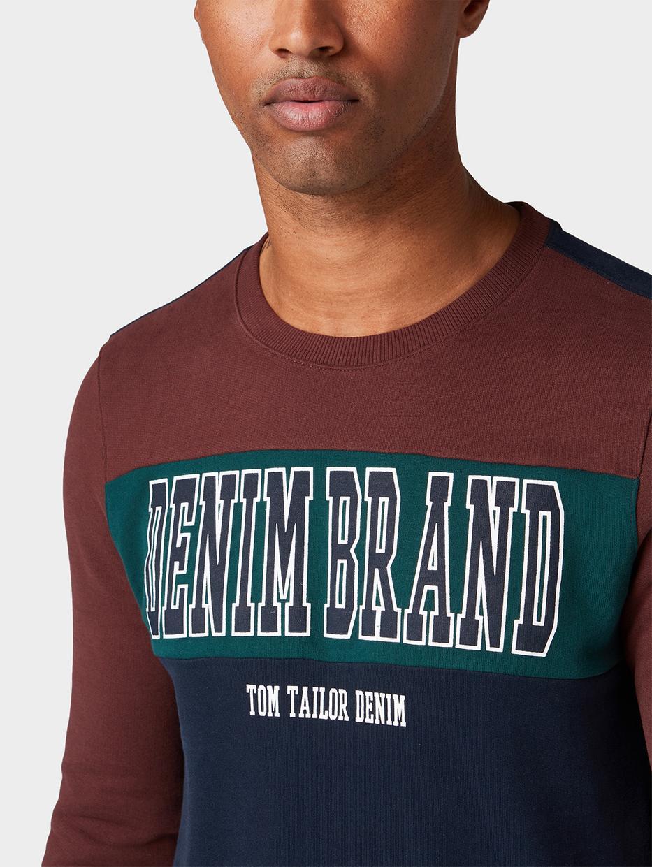 Толстовки Tom TailorТолстовки<br>Джемпер в спортивном стиле|круглый вырез с широкой окантовкой|прямой покрой|логотип TOM TAILOR Denim на груди